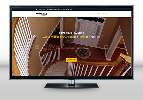 Redesigned website for Final Touch Painting, a painting business located in Princeton, NJ.