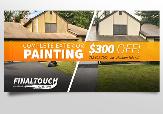 Facebook promotion design for Final Touch Painting.