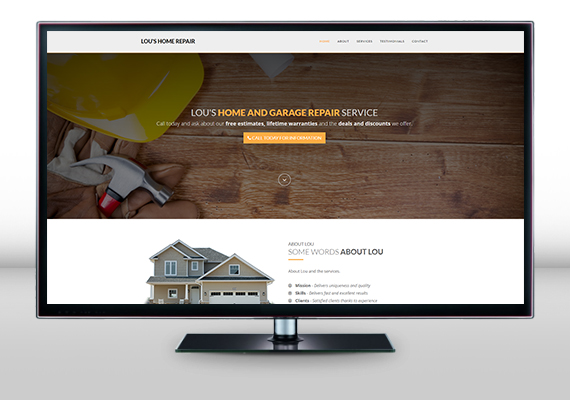 New website design for Lou's Home & Garage Repair.