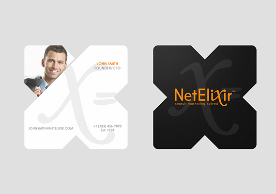 Newly imagined business card design for NetElixir Team Members.